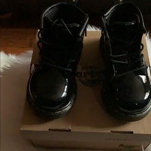Black patent leather Dr. Martens